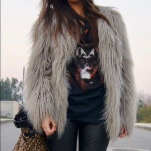Zara Basic Faux Fur Jacket.